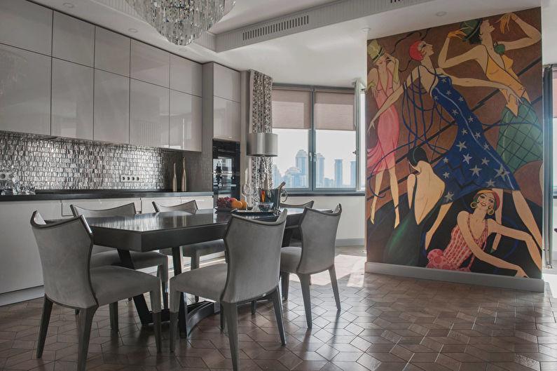 Дизайн кухни в стиле арт-деко - Декор и текстиль