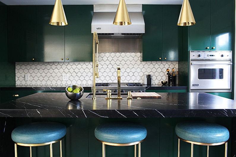 Дизайн интерьера кухни в стиле арт-деко - фото