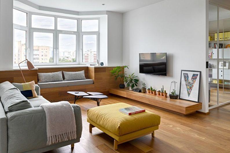 Гостиная - Дизайн квартиры в стиле минимализм