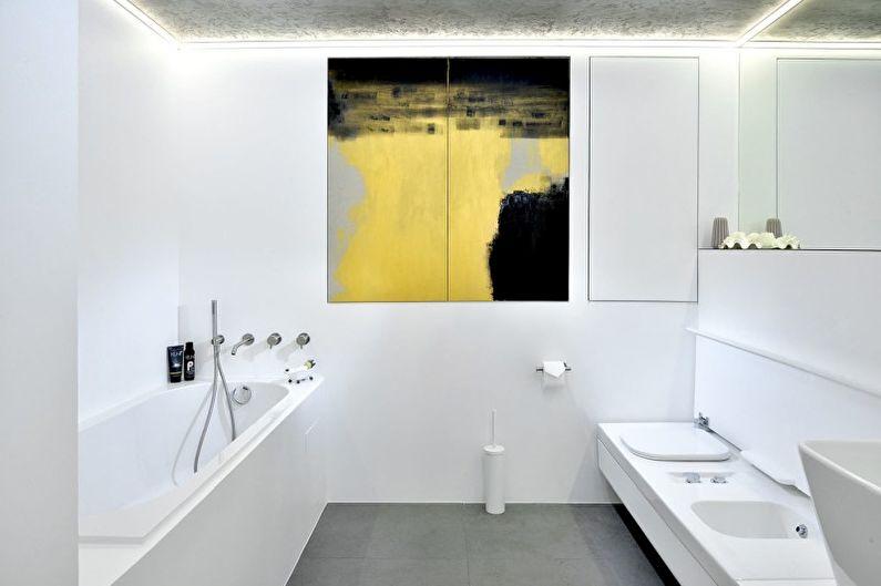 Ванная комната - Дизайн квартиры в стиле минимализм