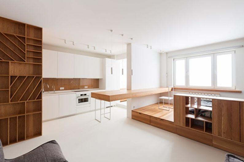 Дизайн интерьера квартиры в стиле минимализм - фото