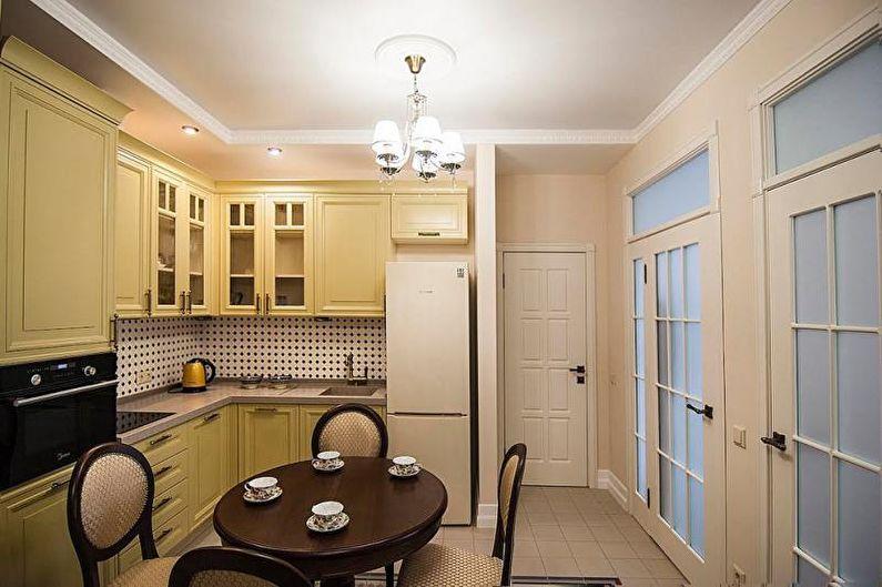 Желтая кухня в классическом стиле - Дизайн интерьера
