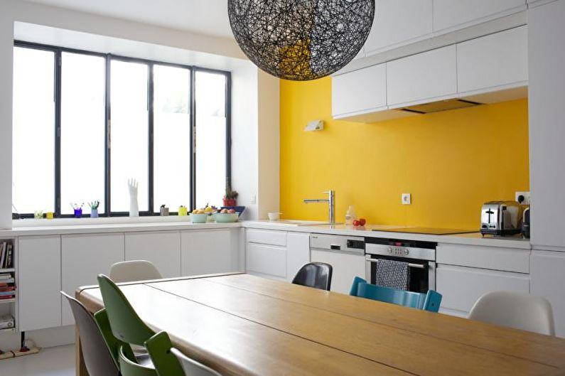 Желтая кухня в современном стиле - Дизайн интерьера