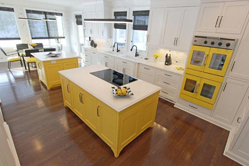 Дизайн кухни в желтых тонах - Отделка пола