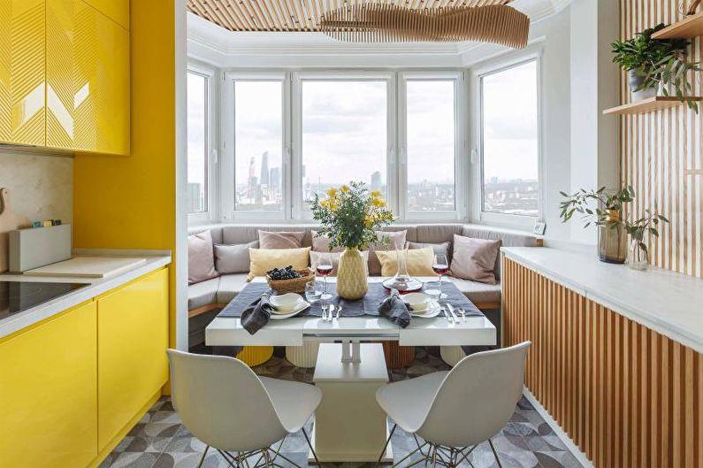 Дизайн желтой кухни - Мебель