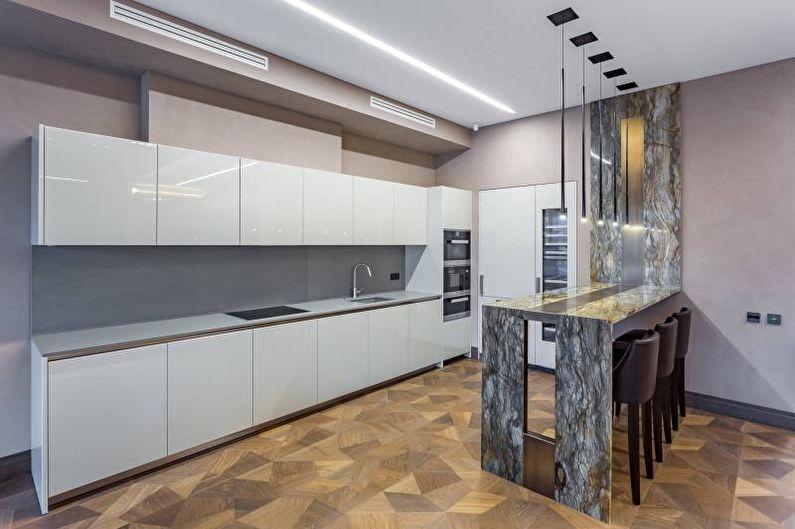 Дизайн белой кухни - Мебель и техника