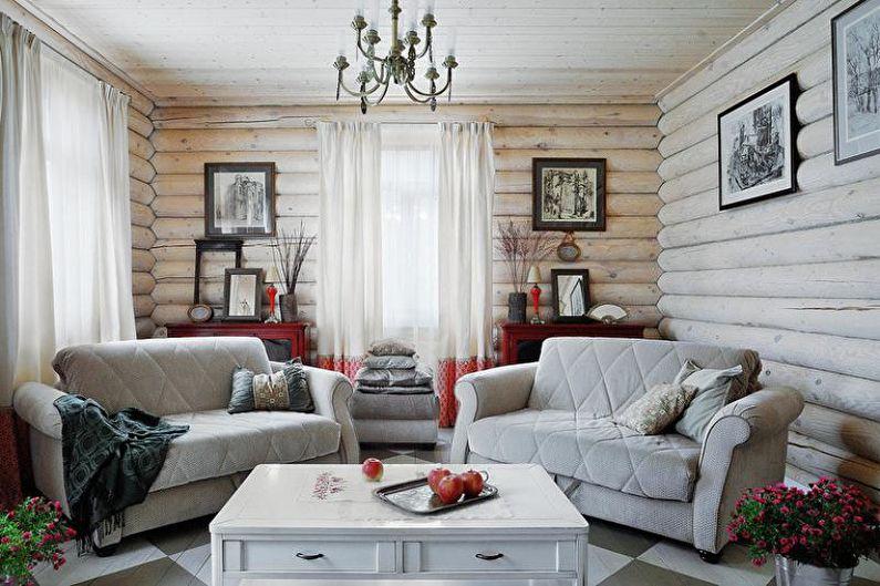 Дизайн гостиной в загородном доме (95 фото)
