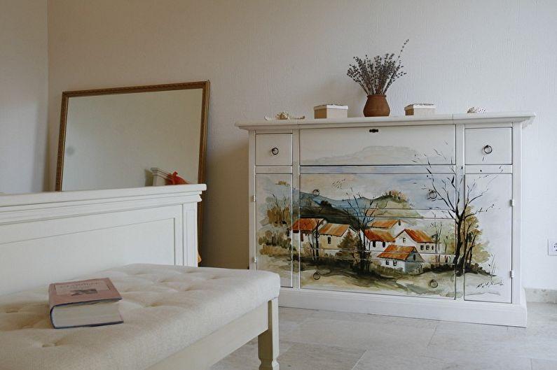 top_744 Декупаж мебели салфетками, обоями, тканью