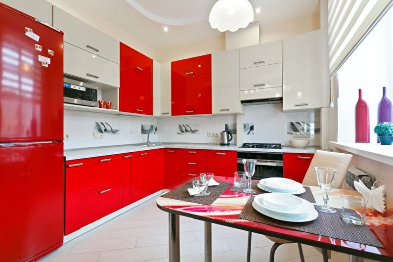 Красная кухня (60 фото): идеи дизайна
