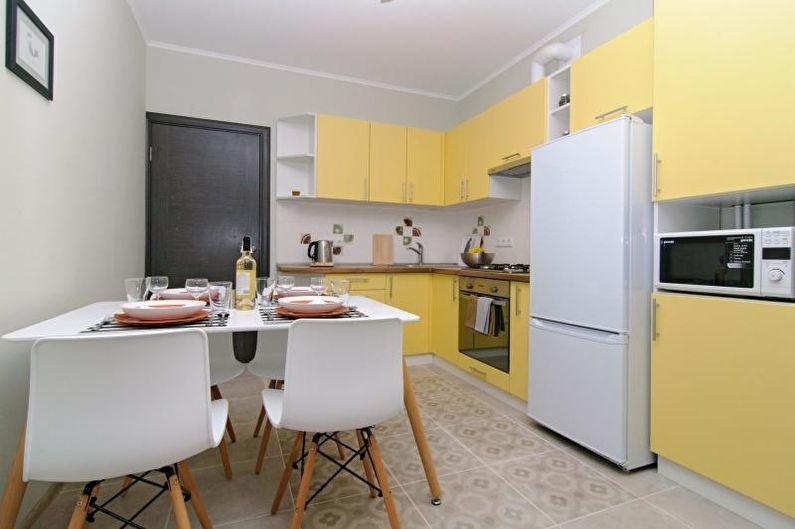 Желтая кухня: 85 фото и идей