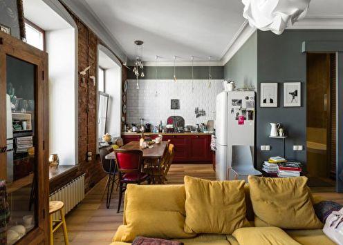 Дизайн однокомнатной квартиры 30 кв.м. (60 фото)