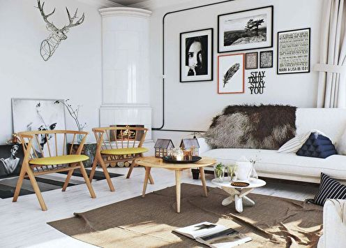 Дизайн трехкомнатной квартиры (75 фото)