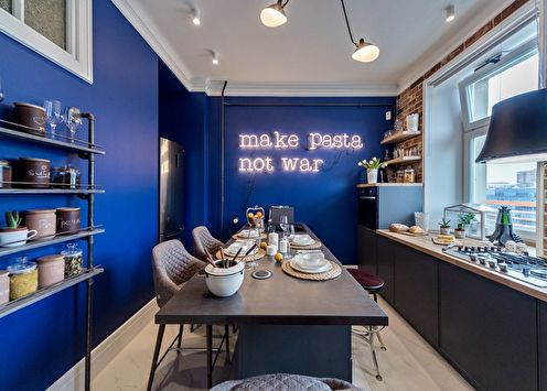 Синяя кухня: 70 идей дизайна