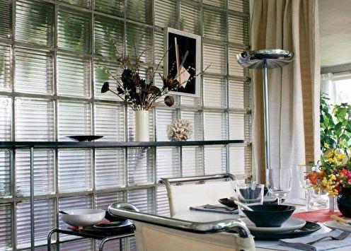 Стеклоблоки в интерьере квартиры: 85 фото-идей