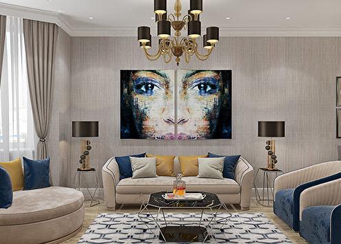Дизайн-проект квартиры «Свет, роскошь, красота»
