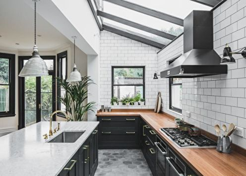 Черно-белая кухня (70 фото): идеи дизайна