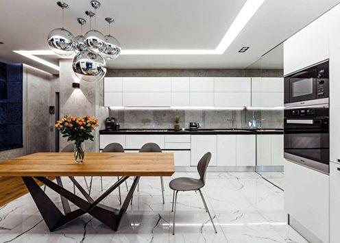 Дизайн кухни в стиле хай-тек (80+ фото)