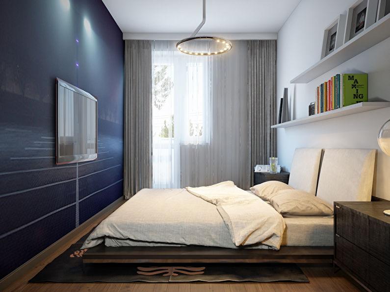 Дизайн интерьера спальни в хрущевке - Фотообои