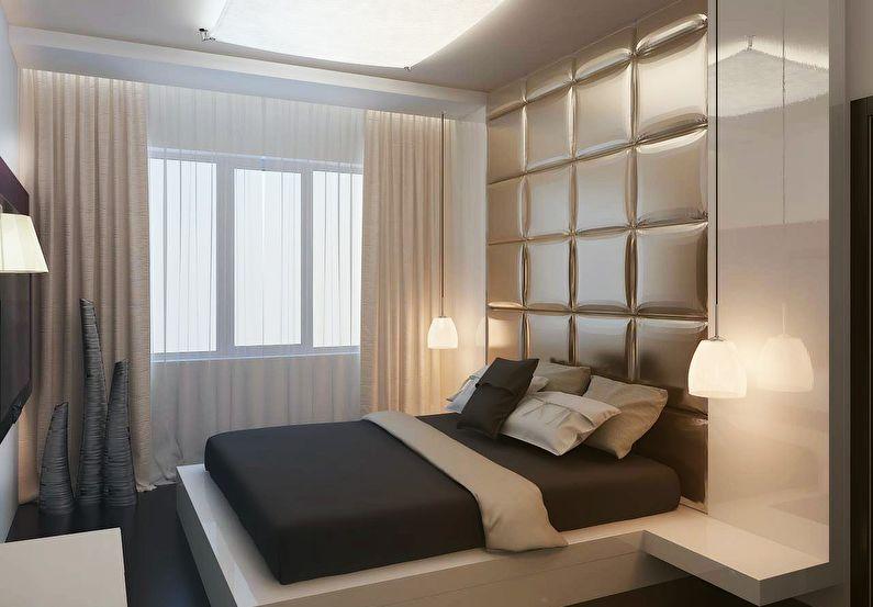 Дизайн спальни в хрущевке - Стиль минимализм