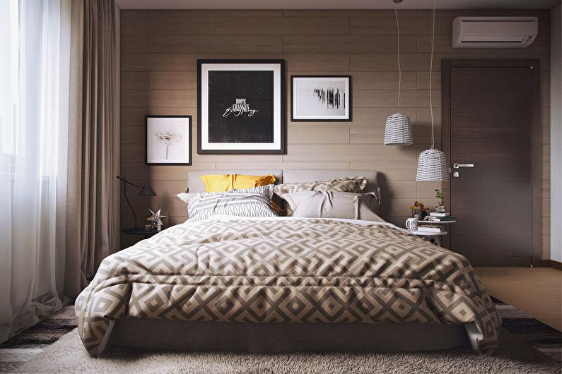Дизайн спальни в хрущевке - Современный стиль