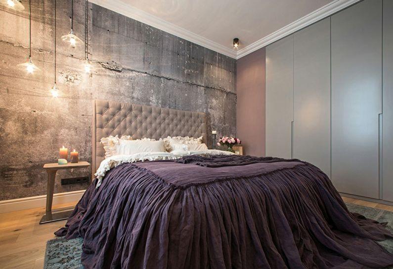 Дизайн спальни в хрущевке - Стиль лофт
