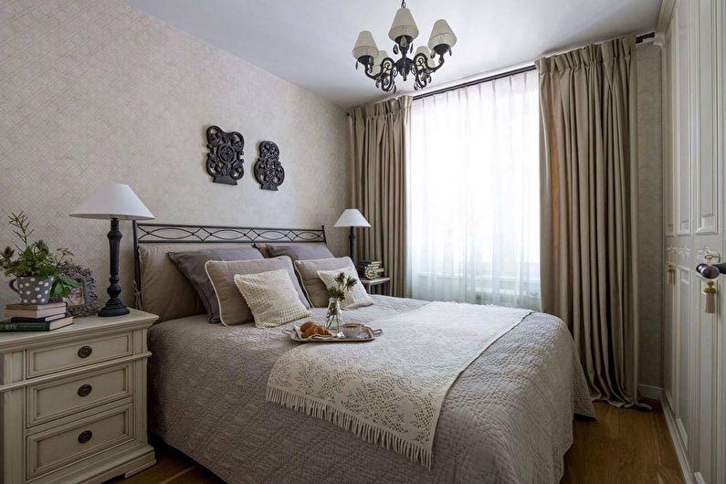 Дизайн спальни в хрущевке - Классический стиль