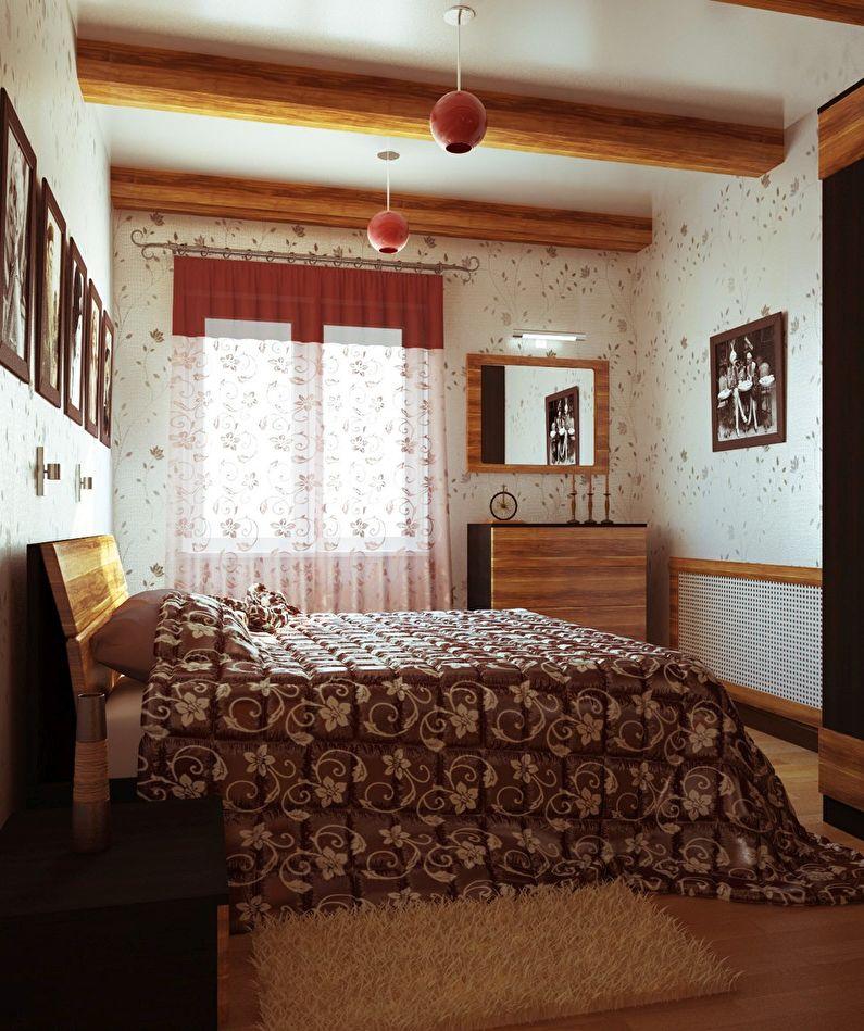 Дизайн спальни в хрущевке - Стиль кантри