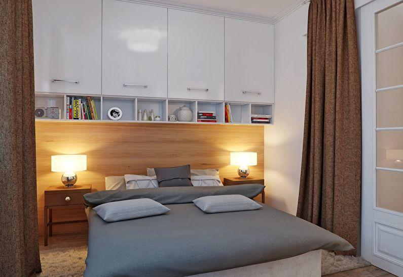 Дизайн интерьера спальни в хрущевке - Освещение