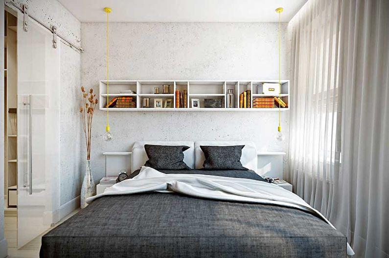 Дизайн интерьера спальни в хрущевке - фото