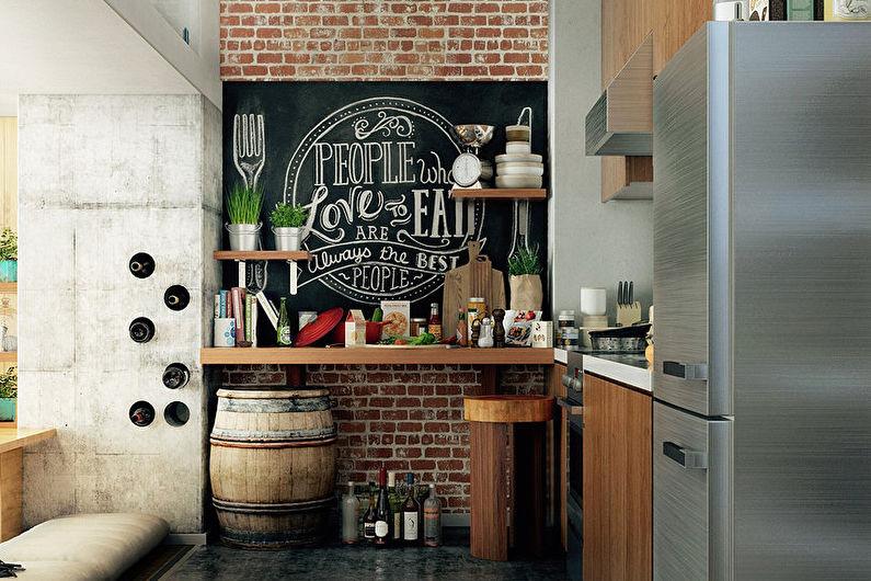 Дизайн кухни 8 кв.м. в  стиле лофт