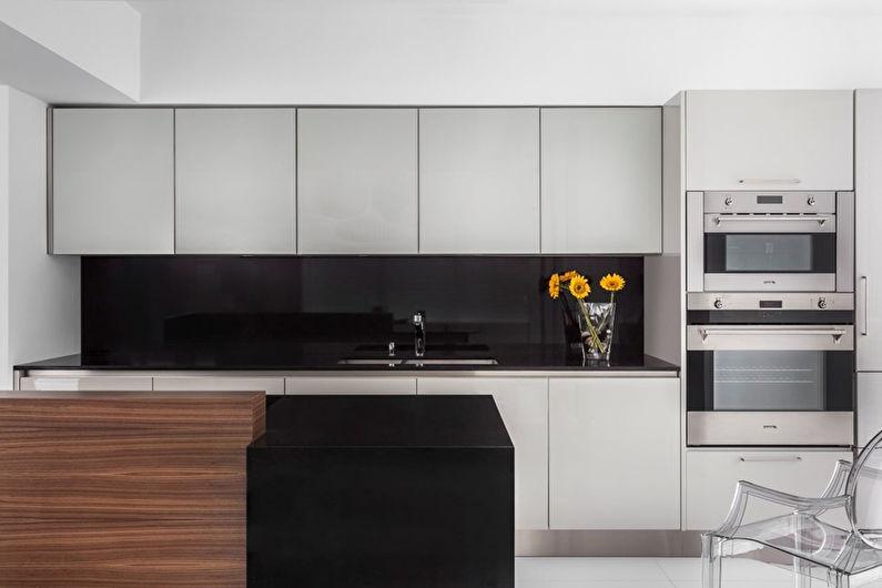 Дизайн кухни 8 кв.м. в стиле минимализм