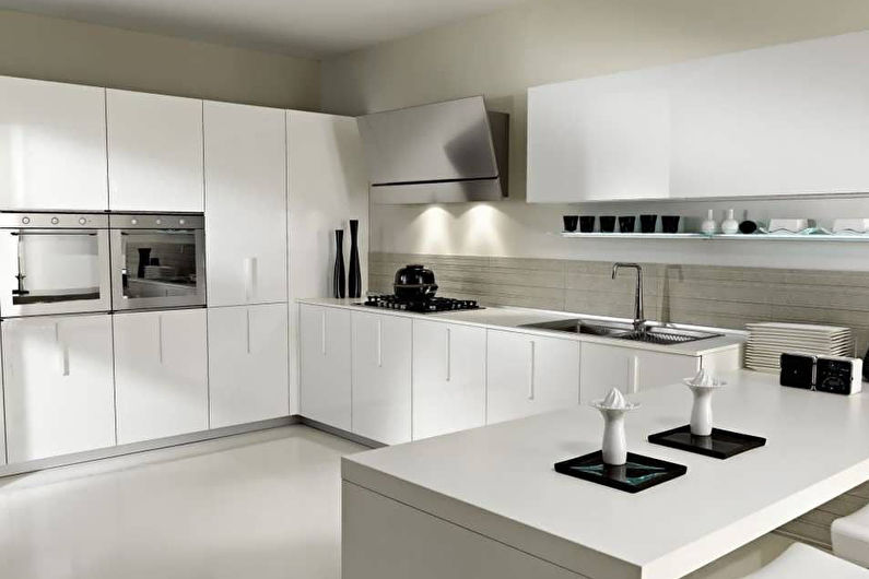 Дизайн кухни 8 кв.м. в стиле хай-тек