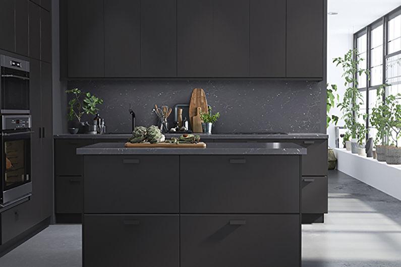 Серая кухня 8 кв.м. - дизайн интерьера