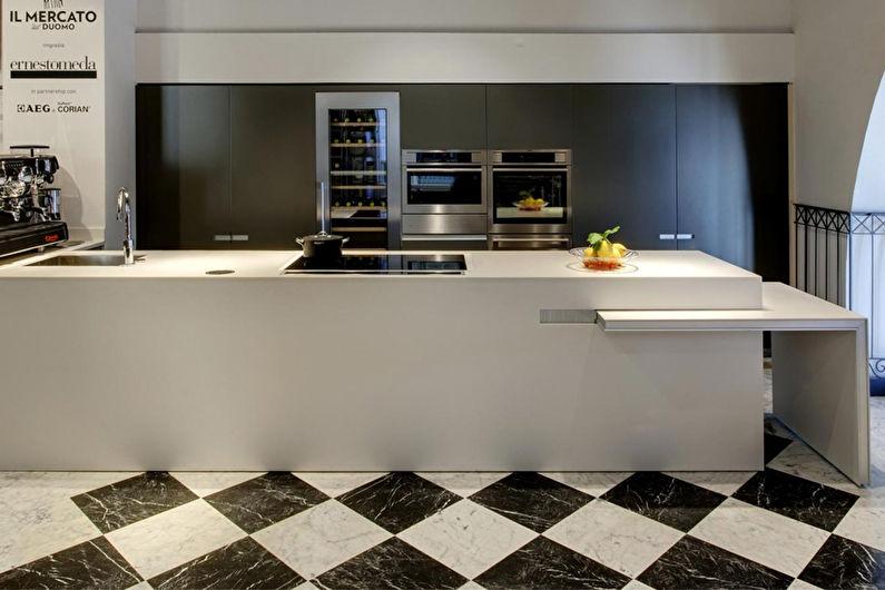 Кухня 8 кв.м. - дизайн пола