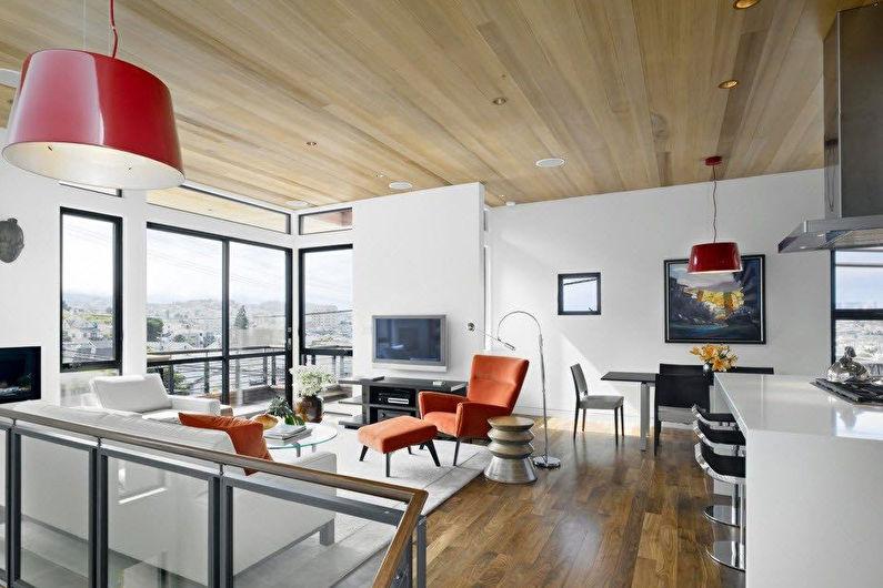 Кухня 8 кв.м. - дизайн потолка