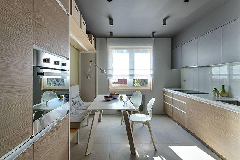 Дизайн кухни 8 кв.м. - как правильно расставить кухонную мебель
