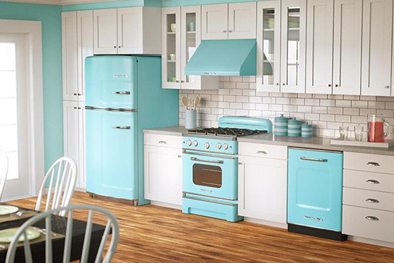 Дизайн кухни 8 кв.м. с холодильником