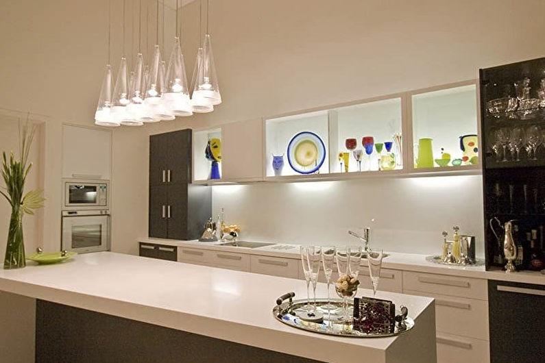 Освещение на кухне 8 кв.м.