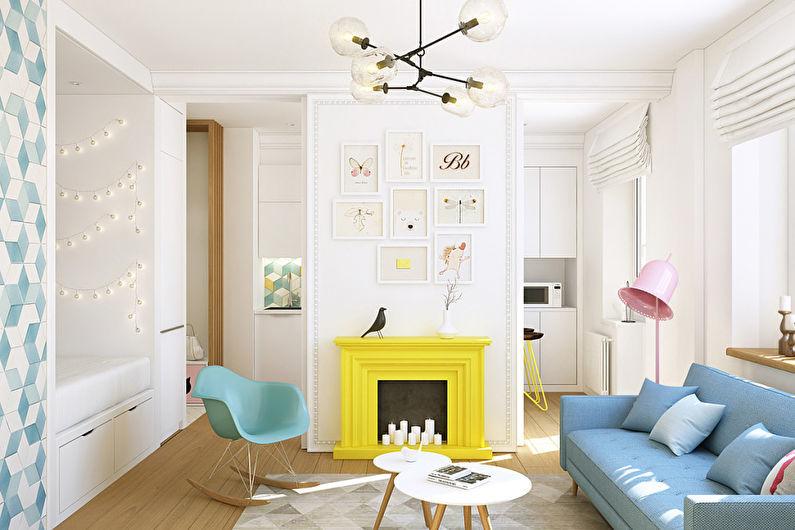 Особенности дизайна однокомнатной квартиры 40 кв.м.
