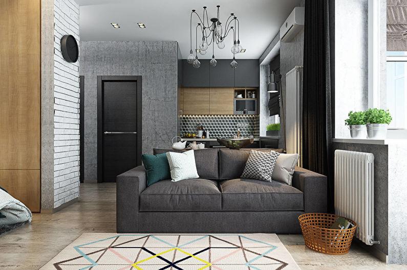 Стильный дизайн однокомнатной квартиры 40 кв.м.