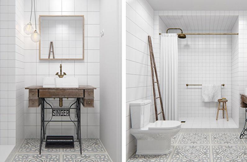 Брутальный лофт в однокомнатной квартире 40 кв.м. - дизайн интерьера