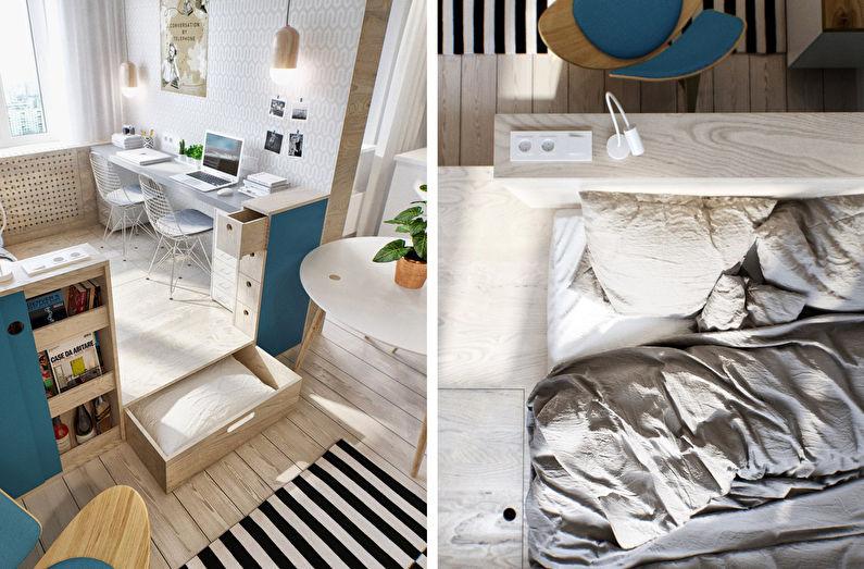 Уютное гнездышко - дизайн однокомнатной квартиры 40 кв.м.