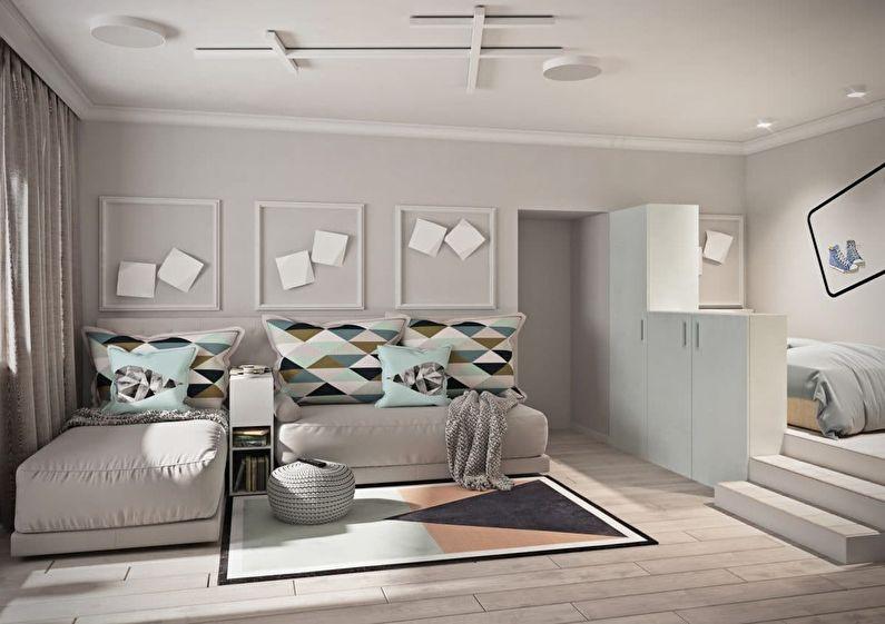 Однокомнатная квартира 40 кв.м. для семьи из трех человек - дизайн интерьера