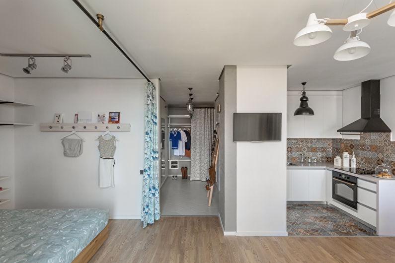 Дизайн однокомнатной квартиры 40 кв.м. в Киеве
