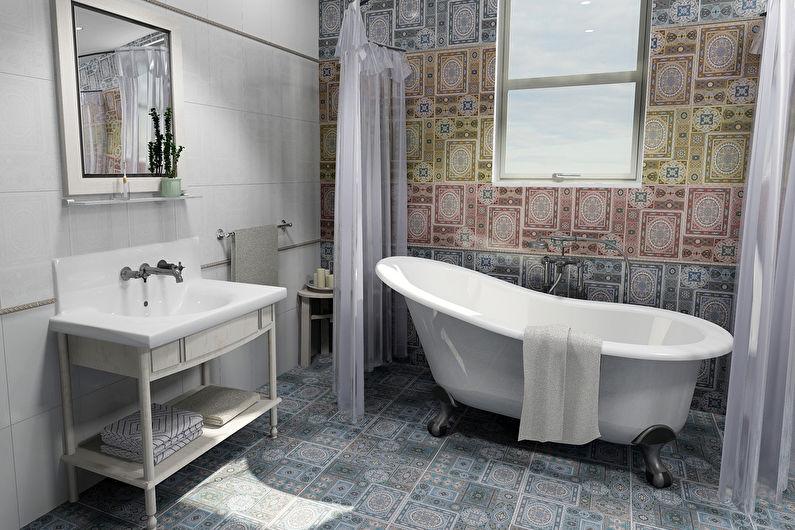 Материалы для отделки стен в ванной комнате - Керамическая плитка