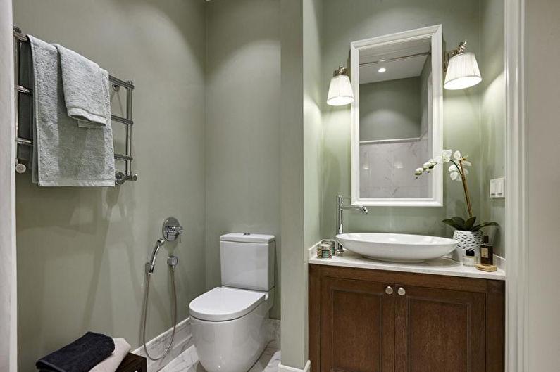 Материалы для отделки стен в ванной комнате - Краска