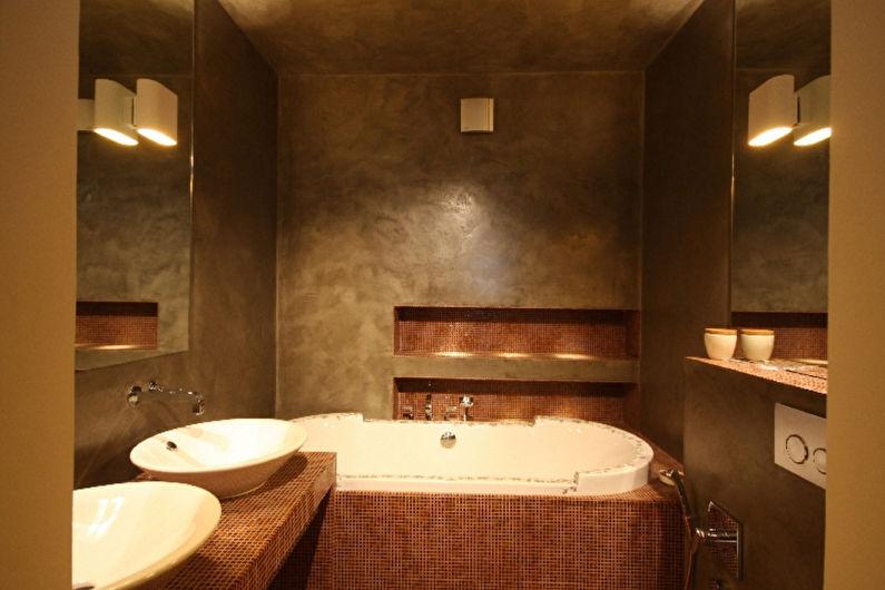 Материалы для отделки стен в ванной комнате - Декоративная штукатурка
