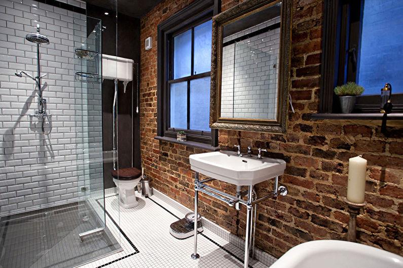 Материалы для отделки стен в ванной комнате - Кирпич