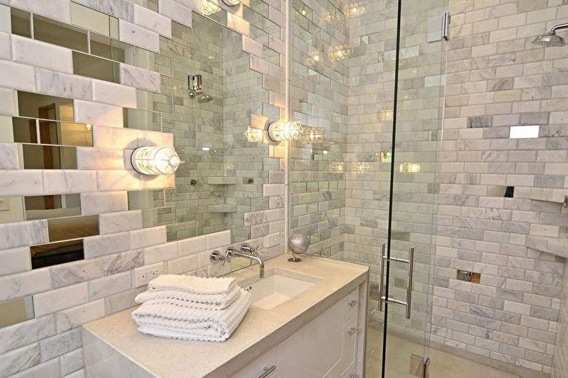 Материалы для отделки стен в ванной комнате - Зеркальная плитка