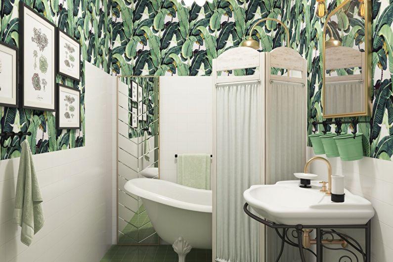 Материалы для отделки стен в ванной комнате - Обои